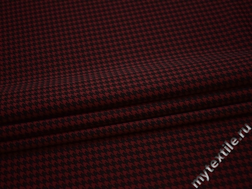 Трикотаж бордовый черный полиэстер АГ18
