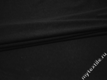 Трикотаж черный хлопок АД538