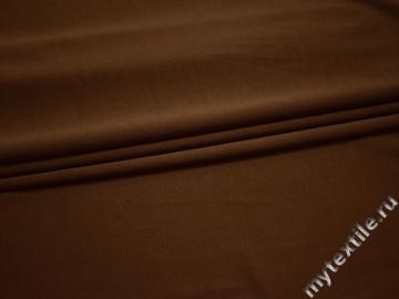 Трикотаж коричневый полиэстер АД518