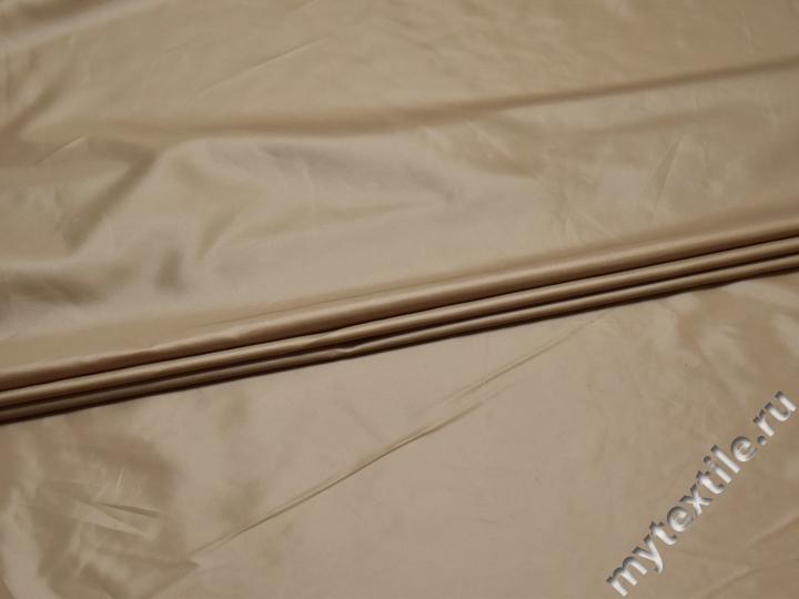 Курточная бежевая ткань полиэстер ДЕ417