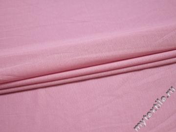 Трикотаж розовый вискоза хлопок АЁ444
