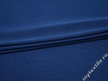 Трикотаж синий вискоза хлопок АМ26