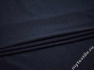 Трикотаж синий хлопок АМ122