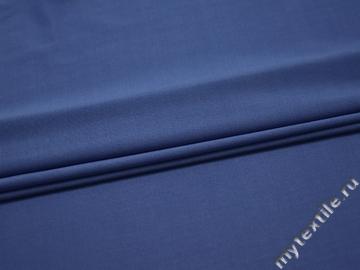 Трикотаж синий полиэстер АМ524
