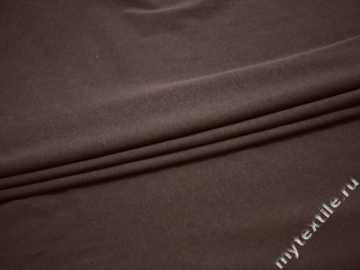 Трикотаж коричневый хлопок АМ126