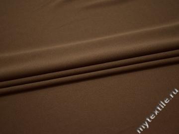 Трикотаж коричневый полиэстер АМ53