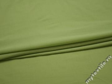 Трикотаж салатовый полиэстер АМ437