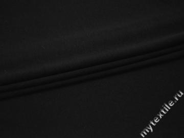 Трикотаж черный хлопок полиэстер АМ311