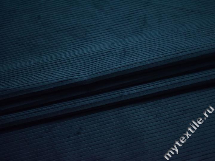 Вельвет синий хлопок ЕА414