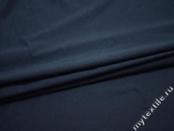 Трикотаж синий хлопок АМ650