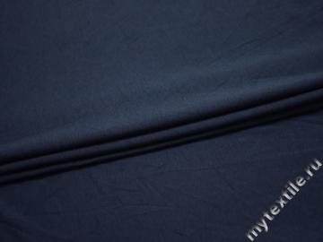 Трикотаж синий вискоза хлопок АМ635