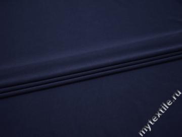 Трикотаж синий полиэстер АМ627