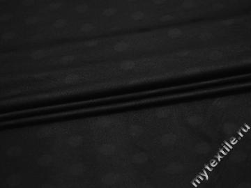 Трикотаж черный полиэстер АМ66