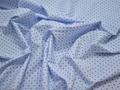 Рубашечная голубая синяя ткань геометрия хлопок ЕБ297
