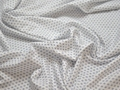 Рубашечная белая синяя ткань геометрия хлопок ЕБ296