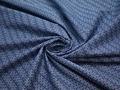 Рубашечная синяя голубая ткань геометрия хлопок ЕБ295