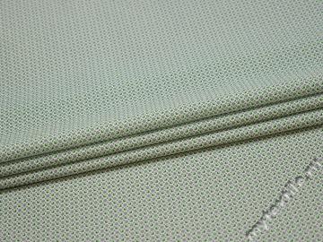 Рубашечная синяя зеленая ткань геометрия хлопок эластан ЕБ285