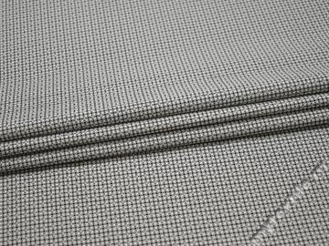 Рубашечная черная серая ткань геометрия хлопок эластан ЕБ276