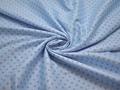 Рубашечная голубая ткань геометрия хлопок вискоза ЕБ272