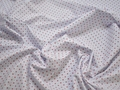 Рубашечная белая ткань геометрический узор хлопок ЕБ271