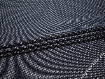 Рубашечная синяя белая ткань геометрический узор хлопок ЕБ270