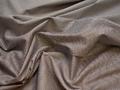 Рубашечная коричневая голубая ткань геометрия хлопок эластан ЕБ262