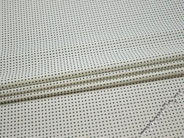 Рубашечная белая синяя ткань геометрия хлопок эластан ЕБ257