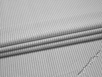 Рубашечная белая черная ткань геометрия хлопок ЕБ255