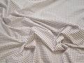 Рубашечная белая синяя ткань геометрия хлопок эластан ЕБ254