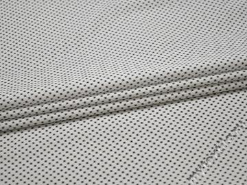 Рубашечная белая черная ткань геометрия хлопок ЕБ246