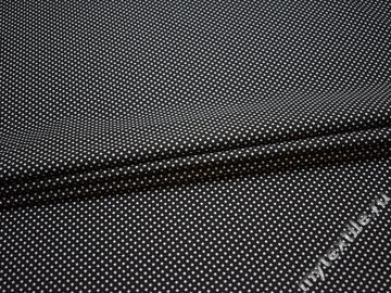 Рубашечная черная белая ткань геометрия хлопок ЕБ243