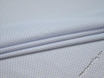 Рубашечная белая синяя ткань геометрия хлопок ЕБ241