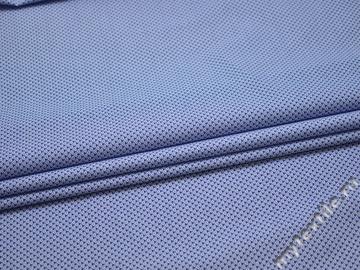 Рубашечная синяя белая ткань геометрия хлопок ЕБ237