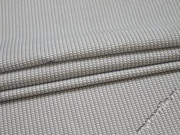 Рубашечная белая синяя ткань геометрия хлопок ЕБ235
