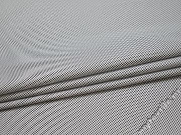 Рубашечная белая синяя ткань геометрия хлопок эластан ЕБ234