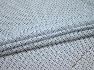 Батист белый с синим узором хлопок ЕБ230