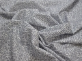 Батист белый серый геометрия хлопок ЕБ221