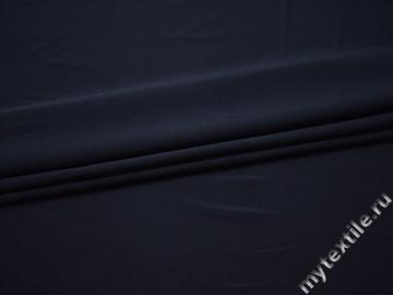 Трикотаж синий полиэстер АИ647