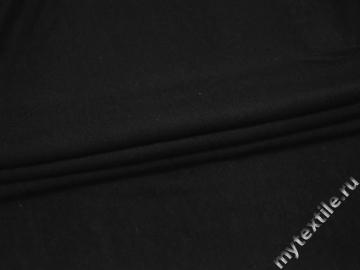 Трикотаж черный хлопок АИ639