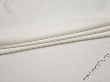 Трикотаж белый хлопок полиэстер АИ611