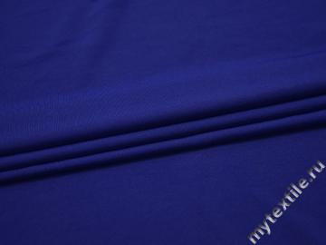 Трикотаж синий полиэстер АИ68