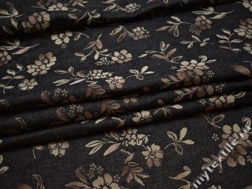 Джинс коричневый серый хлопок полиэстер ЕА149