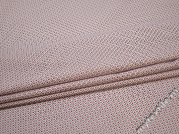 Рубашечная белая красная ткань геометрия хлопок эластан ЕА351