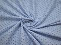Рубашечная синяя ткань геометрический узор хлопок ЕА355