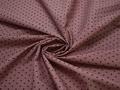 Рубашечная бордовая ткань геометрический узор хлопок эластан ЕА356
