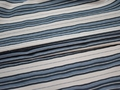 Рубашечная белая синяя ткань полоска хлопок эластан ЕА358