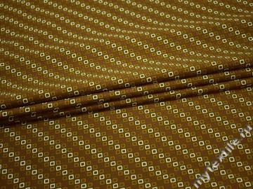 Рубашечная оливковая белая ткань геометрия хлопок ЕА360