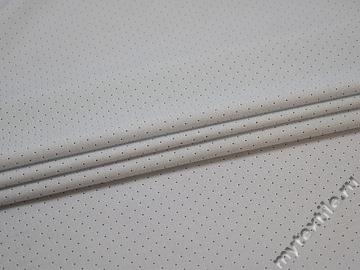 Рубашечная белая синяя ткань горох хлопок эластан ЕА365
