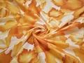 Батист желтый белый цветы хлопок ЕА364