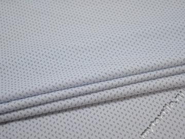 Рубашечная белая голубая ткань геометрия хлопок ЕА369